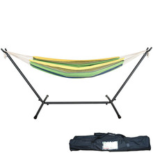 Camping Double Hammock with Space Saving Steel Stand Combo with Carrying bag