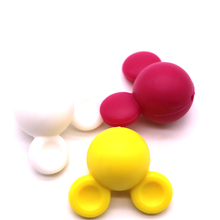 WholeWholesale Su Ordinazione di Colore Del Silicone Del Materiali Per JewelryMickey mouse 100% food grade BPA silicone libero