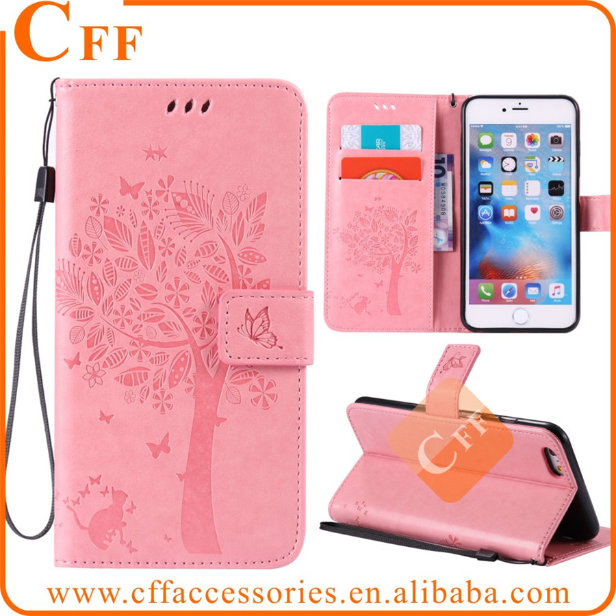 "Flower Embossed leather case for iPhone 5 5G 5S 5SE Snap on PU Leather Holder Case Cover Shell For iPhone 5C 4"" with Hand Rope"