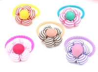 School hair accessories hand made cheap ponytail holders for kids