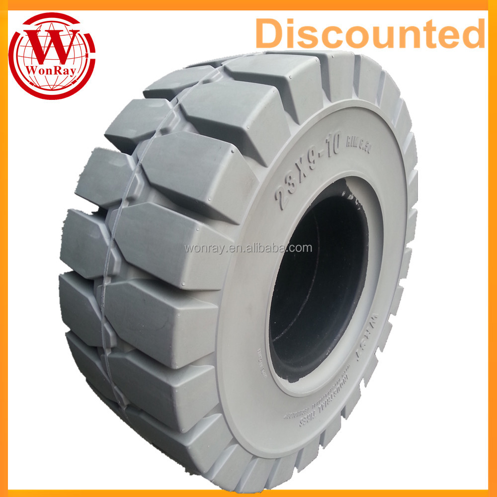 High Quality Linde E25P-600HL Solid Forklift 23x9-10 6.50 Industrial Tire For Front Wheel