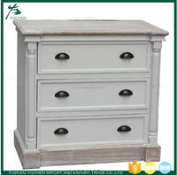 French White Wooden Painted Console Cabinet