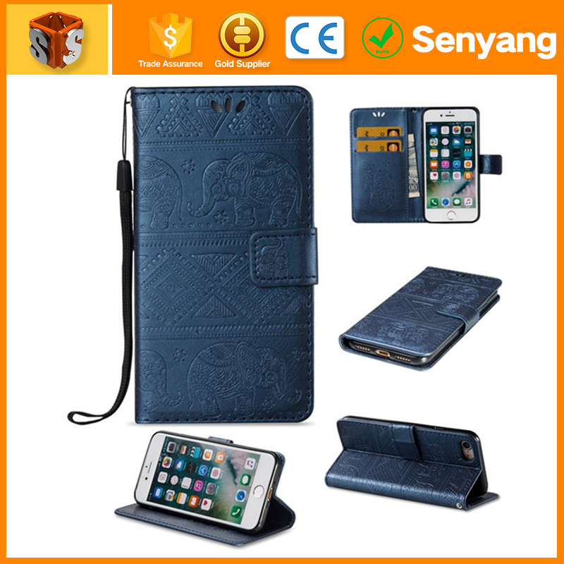 2017 most popular Magnetic Leather Wallet Flip Case Cover For Iphone 5