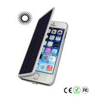 Portable wireless solar mobile charger cover for iphone 6