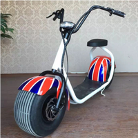 CE approved 1000W citycoco cheap big wheel harley electric scooter with seat for adult