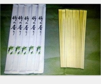 Disposable bamboo tensoge chopsticks with full paper package