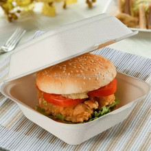GUARANTEED LOWEST PRICE! Eco friendly wholesale 100% biodegradable clamshell food packaging Hamburger Box