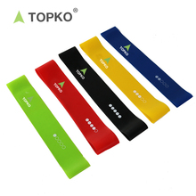 TOPKO High quality 5 Sets Stretching Exercise Loop Resistance Band