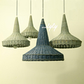 wholesale blue bulk italian lamp shades for home decoration