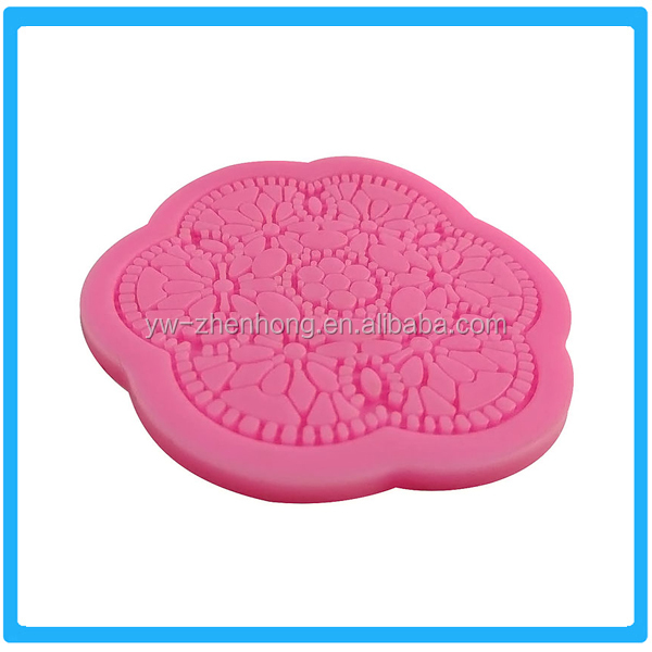 Hot Selling Decoration Different Design Silicone Sugar Lace Mat Cake Mold