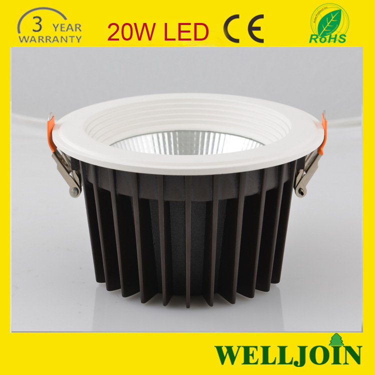 High quality 3 years warranty cob led recessed <strong>downlight</strong> 20w