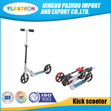 Chinese scooter manufacturers cheap big thick 2PU 200mm wheels foldable kick scooter for teenagers with maximum load 100kg