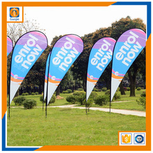 Teardrop Flag Feather Flag Banner with Flexible Flag Rod