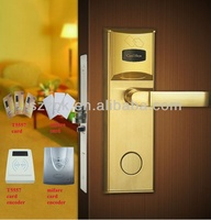 electronic keyless access control system RF card hotel door lock