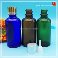 logo printing any volume glass dropper bottle with aluminiun cap