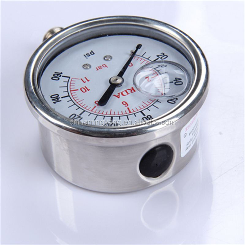 Specially designed Hot Sale High Quality clear to read durable liquid filled manometer oil pressure gauge