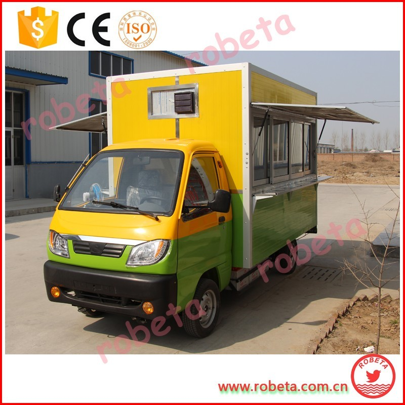 Mobile Scooter Motorized Food Cart Panel Solar Mobile Food