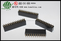 pitch 2.54mm double row V/T female header 22pin good quality connector