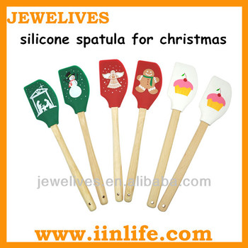 Wonderful silicone kitchen cream bread Christmas spatula for holiday