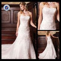 Sh0039 Custom Made Light Pink Wedding Dress Ukraine Wedding Dress