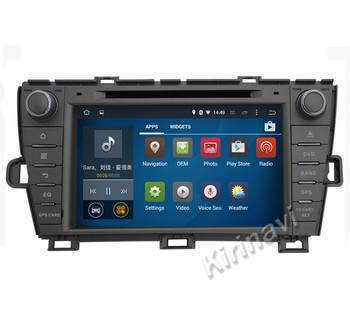 Kirinavi WC-TP8004L android 5.1 car navigation gps for toyota prius 2009-2015 car dvd player radio stereo multimedia