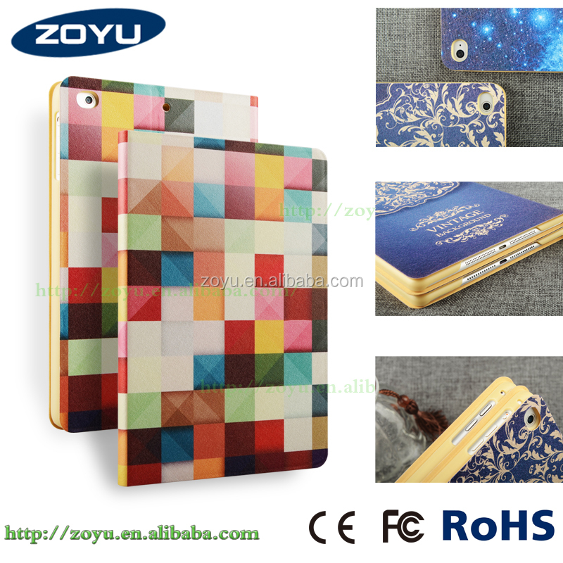 New Fashion Tablet Case Cover Stand Foldable Tablet Case For iPad Air 2,leather case for ipad air 2