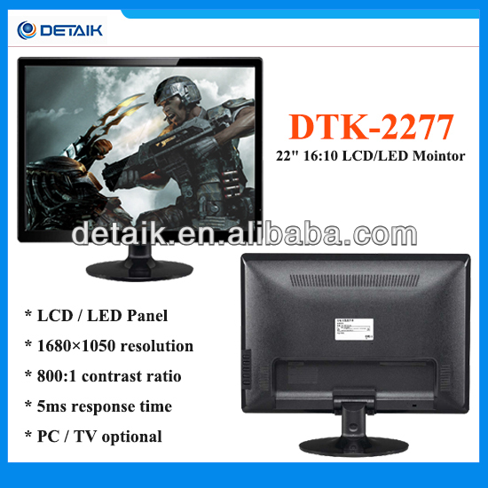 22 inch Flat Screen LED TV Monitor / Computer Monitor / Factory Price