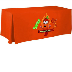 Custom Printed 6 Feet Trade Show Table Cloth/Cover For Game Event