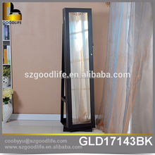 MDF Rotating Display Cabinet Rotating mirror jewelry cabinet mirrored furniture