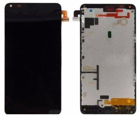 Black white lcd for Lumia 640 LCD Touch Screen Digitizer with Frame replacement assembly, for nokia lcd screen