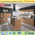 Customized high-end kitchen cabinet plastic cover with wood pull out for kitchen