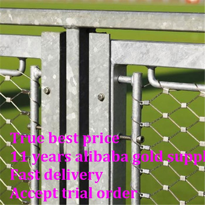 X-tend stainless steel rope mesh fence For Bird Aviary Netting Animal Enclosure in Zoo