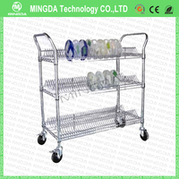 big size esd pcb storage cart trolley with 4 wheels , ESD SMT Reel Storage Cart / ESD PCB Storage Cart from China supplier