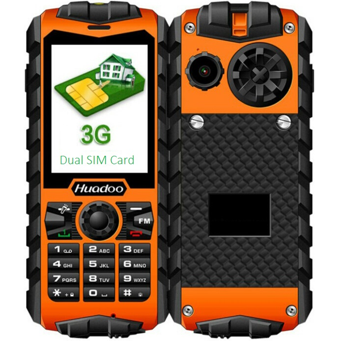 Original Huadoo H3 Quad band mobile phone Waterproof Senior phone old man IP68 military Outdoor Rugged Feature phone for Germany