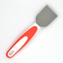 Hot sales in Amazon New design TPR handle stainless steel cheese scraper spatula