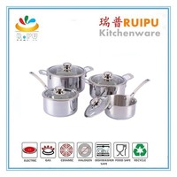 2015 new kitchen accessories stainless steel cooking pot utensils kitchen inox cookware with stainless handle