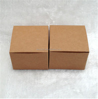 200pcs kraft CUBE packaging box, Kraft paper cosmetic jars package box 9*9*9cm DHL Freeshipping