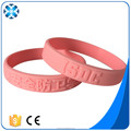 Wholesale price custom Silicone bracelet with embossed logo