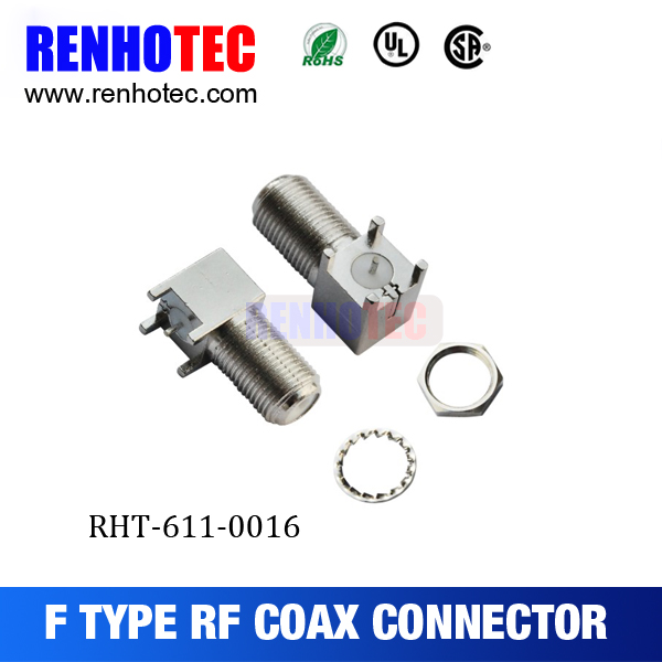 Alibaba China Supplier F Female Electronics Television RG6 Connectors PBT GF20