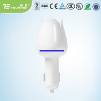 Sales Mini Auto Car Fresh Air Ionic Purifier Oxygen Ozone Ionizer Cleaner White