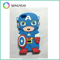 3D Captain america silicone cell phone case for iphone 4/5/6