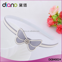 New arrival acrylic eco-friendly lovely headwear baby hair bands cute bow knot for girls