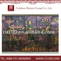 2014 best sale oem top quality hammered design wall mural artist
