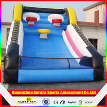 outdoor double basketball hoops Inflatable basketball games cheap on sale