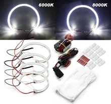 RGB LED Angel Eye Halo Rings with Projector Lens for BMW E39 E46 3 5 7 Series Headlight