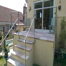 garden stair railing and staircase railing designs