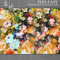 PHILEASY 2013 NEW STYLE 100% spun rayon challie digital print fabric