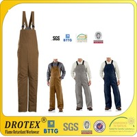 8oz~13oz Soft 100% Cotton Fireproof Overall /Pants/Bib pants / Fireproof Canvas