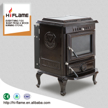 HiFlame Indoor Enamel Cast Iron Wood Burning Stove with back boiler HF443BE