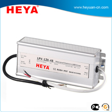 single output 220v ac to 24v dc power supply 120w waterproof led driver